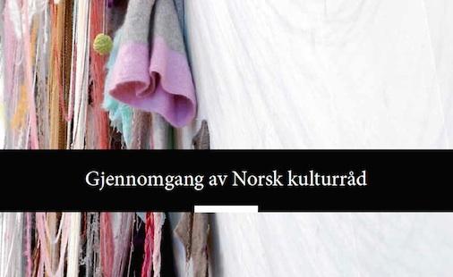 Høringssvar til gjennomgangen av Norsk Kulturråd